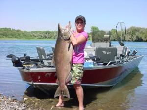Giant Salmon on Sacramento River